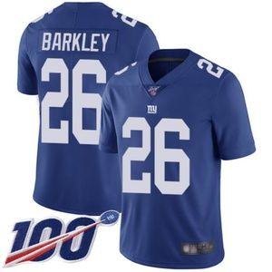 Mens Giants Saquon Barkley 100th Jersey